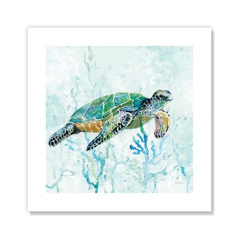 Sea Turtle Swim I - Blue