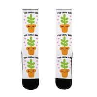 LookHUMAN You Grow Girl US Size 7-13 Socks