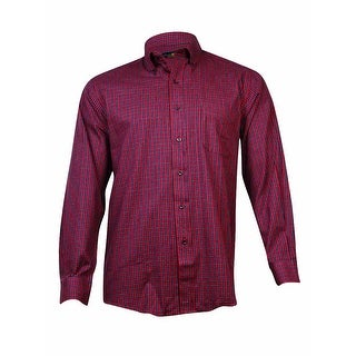 Club Room Men's Wrinkle Resistant Shirt (Red Makay, 16/34x35)