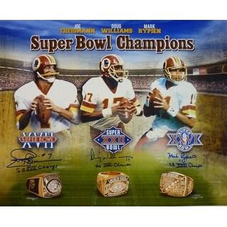 Washington Redskins Autographed Super Bowl Quarterbacks 16x20 Photo