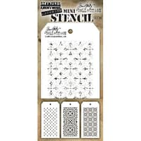 Tim Holtz Mini Layered Stencil Set 3/Pkg-Set #30