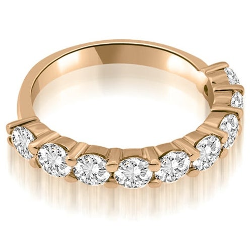 1.80 cttw. 14K Rose Gold Classic Round Cut Diamond Wedding Band