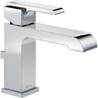 "Delta 567LF-TP Ara Centerset Bathroom Faucet includes Drain Assembly and Optional 6"" Escutcheon"