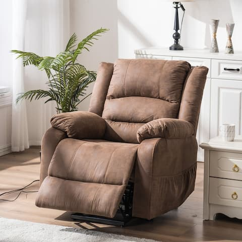 Electric Power PU Leather Single Sofa Home Leisure Recliner Chair with Lift Massage Function
