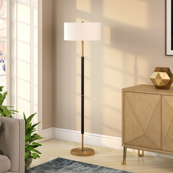 Silver Orchid Gotho Matte Black/ Polished Nickel Floor Lamp. Opens flyout.