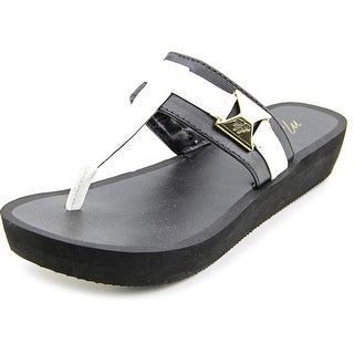 Marc Fisher Sunam Women Open Toe Synthetic Black Thong Sandal