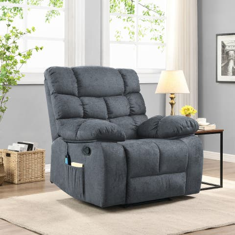 Blackshear Indoor Pillow Tufted Massage Recliner by Christopher Knight Home