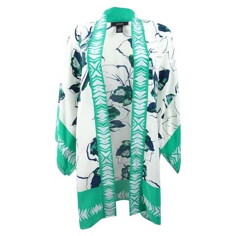 Alfani Women's Printed Kimono Jacket Art Fauna - Art Fauna