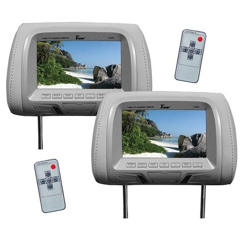 Tview t726pl-gr tview 7 tft/lcd car headrest with monitorpair gray