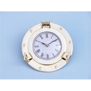 Brass Porthole Clock 8 in. Port Holes Decorative Accent
