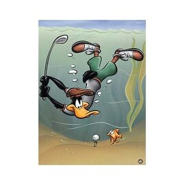''Underwater Daffy'' by Looney Tunes Humor Art Print (19.75 x 15.75 in.)