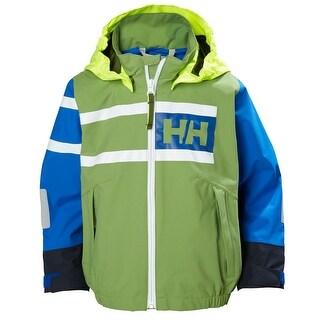 Helly Hansen Kids Unisex Salt Power Jacket - Forest Green, 122/7