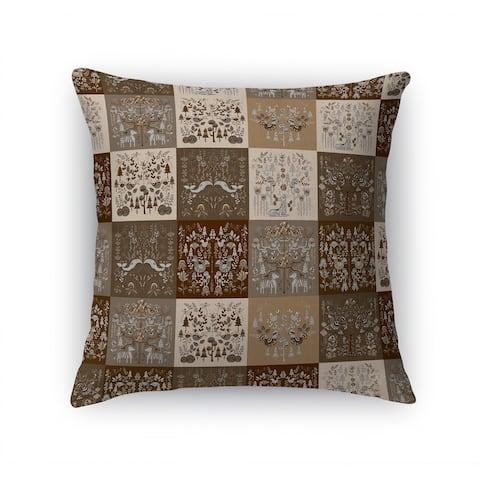 SCANDINAVIAN PATCHWORK NEUTRAL Accent Pillow By Kavka Designs