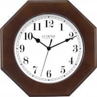 Solid Pine Octagonal Wood Clock, 10.5 in.