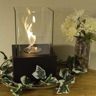 Sunnydaze Cubic Ventless Tabletop Bio Ethanol Fireplace - Multiple Colors Available
