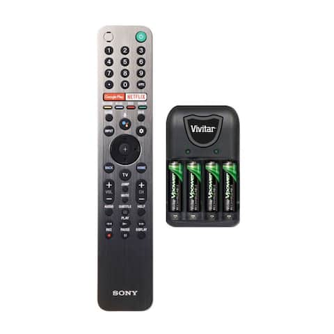 Sony Genuine OEM LED Smart TV Remote Control with Battery Bundle
