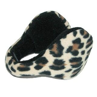 180s Women's Leopard Print Wrap Around Earmuffs