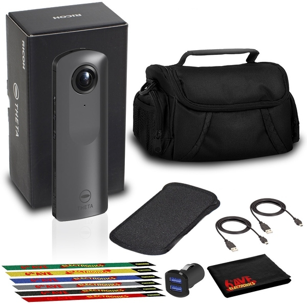 Ricoh THETA V 360 4K Spherical VR Camera with Case, USB Cables, and. Opens flyout.