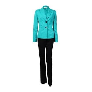Le Suit Women's Woven Notch Lapel Two Button Pant Suit - 18W