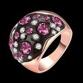 Rose Gold Multi-Pink Stone Ring - Thumbnail 1