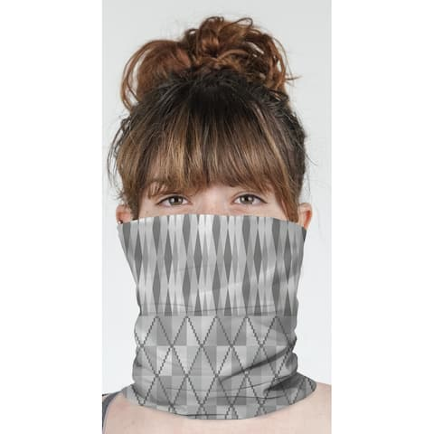 """STEPPING STONE GREY Neck Gaiter By Becky Bailey - 10"""" x 18"""""""