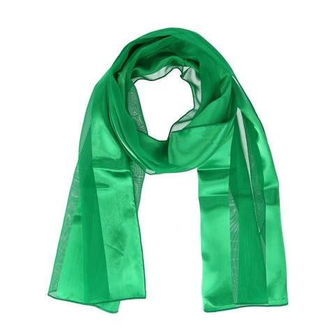 CTM® Women's Classic Long Solid Satin Scarf - one size