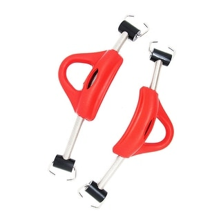 Scuba Choice Diving Stainless Steel Red Spring Fin Straps Pin Style - Pair, Red