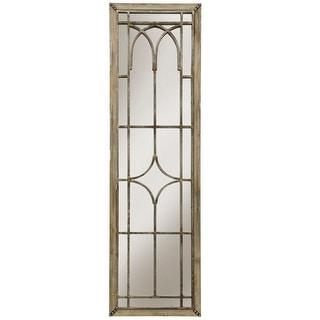 "StyleCraft SC-WI52416  20"" x 70"" Rectangular Flat Wood Framed Wall Mounted Decorative Panel Mirror - Natural Wood"