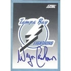 Wayne Cashman Tampa Bay Lightning 1992 Score Team Card Autographed Card  This item comes with a cer