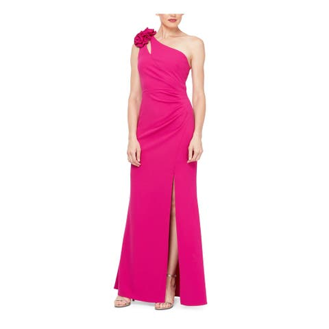 SLNY Pink Sleeveless Full-Length Fit + Flare Dress Size 16