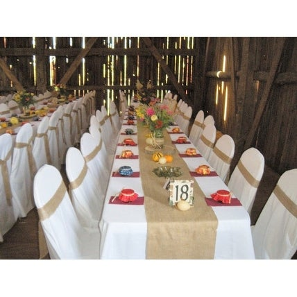 Burlap Table Runner: 120x15