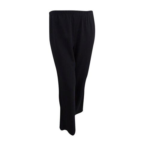 Alex Evenings Women's Straight-Leg Tuxedo Pants (XL, Black) - Black - XL