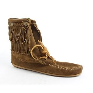Minnetonka Womens Ankle Hi Tramper Dusty Brown Moccasin Boots Size 10