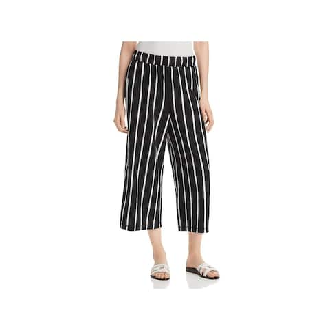 Eileen Fisher Womens Capri Pants Wide-Leg Slubby