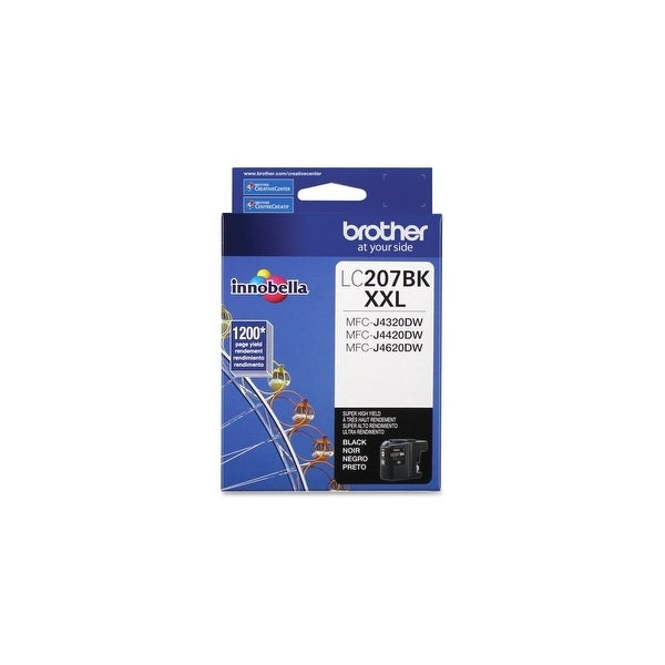 Brother LC207BK Brother Innobella LC207BK Ink Cartridge - Black - Inkjet - Super High Yield - 1200 Page - 1 Each