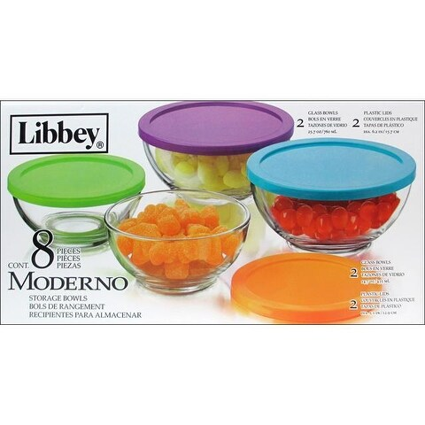 Crisa By Libbey Glass Moderno Bowl Set with Lids