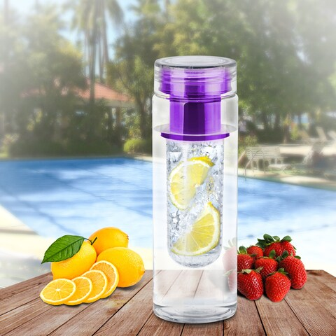 Portable Fruit Infusing Infuser Water Bottle, Non Toxic Bpa Plastic, Purple, US