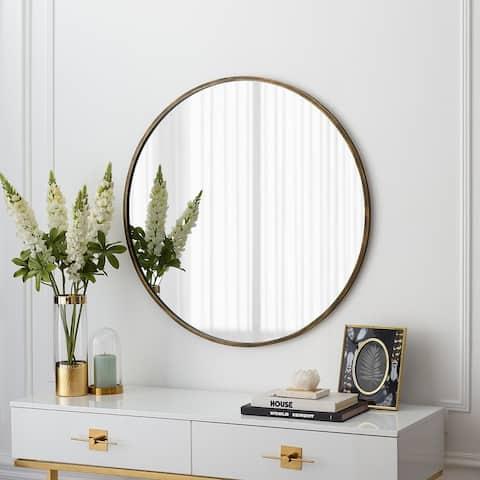 Carson Carrington 32-inch Round Metal Frame Mirror