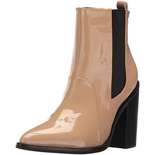 Sol Sana Womens Lori Patent Leather Heels Ankle Boots