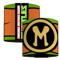 Michelangelo Belt Logo Green Orange Black Yellow Elastic Wrist Cuff