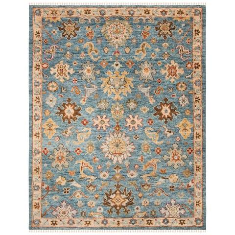 SAFAVIEH Hand-Knotted Samarkand Vagiani Traditional Wool Rug