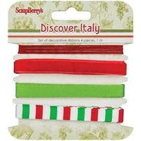 1M Each - Scrapberry's Discover Italy Ribbon & Trim 4/Pkg