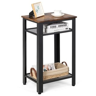 Link to Costway 3-Tier Industrial Tall Nightstand Side End Telephone Table w/ - See Details Similar Items in Living Room Furniture