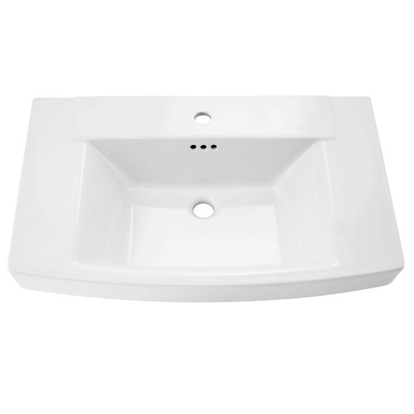 "American Standard 0328.001 Townsend 30"" Fireclay Pedestal Bathroom Sink with Single Faucet Hole and Overflow"
