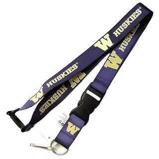 Washington Huskies Lanyard Keychain Badge Holder NCAA - Purple