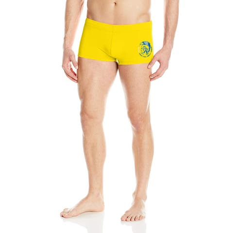 Diesel Mens Yellow Blue Size XL Only The Brave Drawstring Swim Briefs