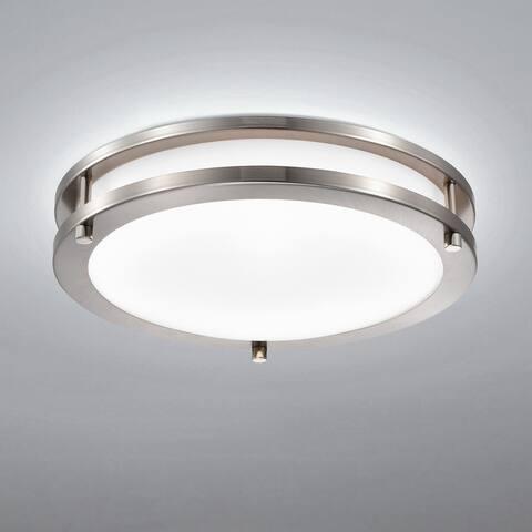 Dimmable LED Flush Mount Ceiling Light Selectable 3000K/4000K/5000K