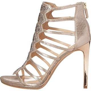 Vince Camuto Womens Gavin Shimmer Rhinestone Dress Sandals