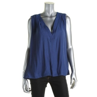 Free People Womens Darcy Blouse V-Neck Sleeveless