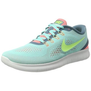 Nike Womens Free RN Low Top Lace Up Running Sneaker